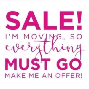 Send me all reasonable offers! I'm moving soon!